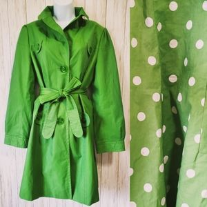 Loft, trench coat, L, lime green, spring wear